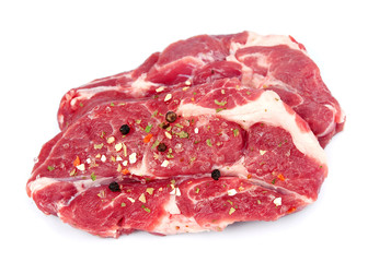 Crude meat with spice