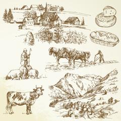 farm, agricultural village - rural landscape