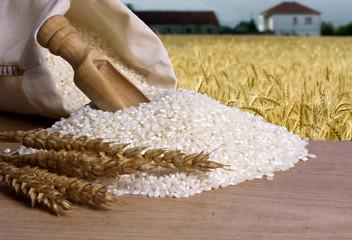 arroz integral natural