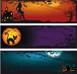 Halloween set banner