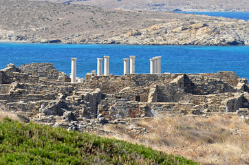 Delos-general view of ancient site,Greece