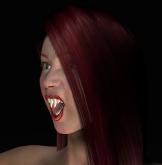 Sexy Red Haired Vamp