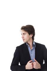 Geschäftsmann im Profil