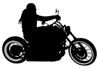 Aluminium Prints Motorcycle One bikers
