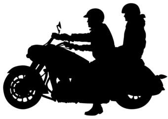 Fotomurales - Pair on bike