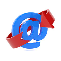Email Icon with Red Arrow.