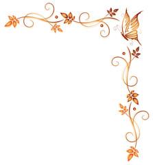 Herbst, frame, Blätter, Laub, Ranke, Herbstfarben