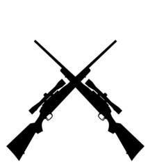 Sniper rifles.