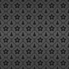 gray wallpaper with stars and trees