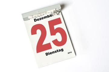 25. Dezember 2012