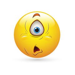 Smiley Emoticons Face Vector - Alien look
