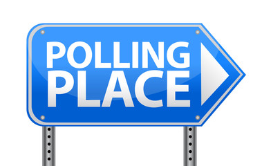 Polling place sign illustration design