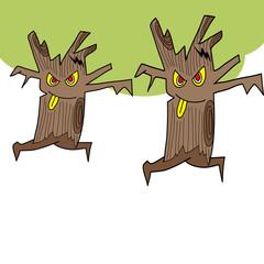 Poster de jardin Creatures halloween cartoon charactor hand draw