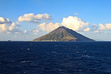View of the Stromboli volcano