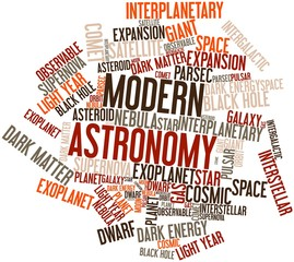 Word cloud for Modern Astronomy