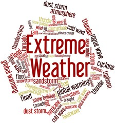 Word cloud for Extreme Weather