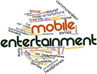 Word cloud for Mobile Entertainment