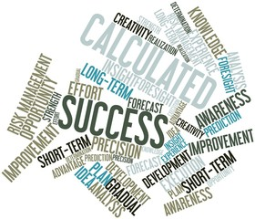 Word cloud for Calculated Success