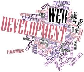 Word cloud for Web Development