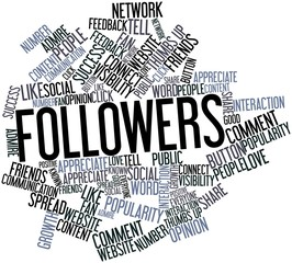 Word cloud for Followers