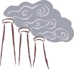 Vents emitting smoke