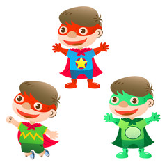 Foto op Canvas Superheroes cute super hero boy