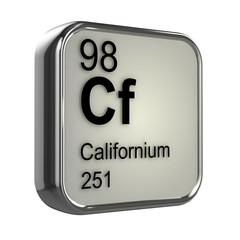 3d Periodic Table - 98 Californium