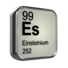 3d Periodic Table - 99 Einsteinium