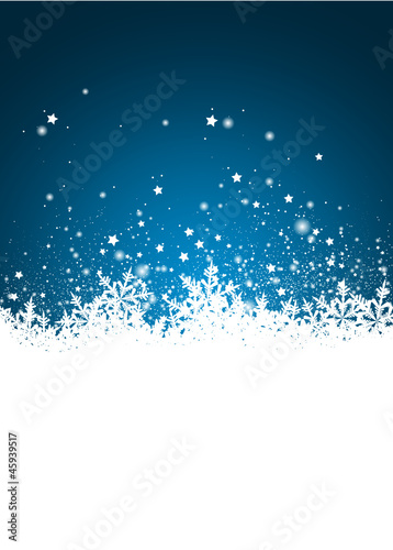 Weihnachten Designvorlage Vorlage Schnee Verschneit Blau