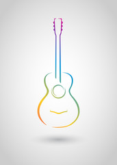 acoustic guitar (vector object)