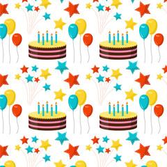 Seamless pattern birthday party background
