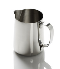 metal cup with a spout