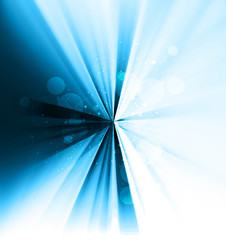 abstract shiny colorful blue swirl rays vector design
