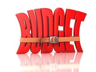 budget deficit - recession 3d concept