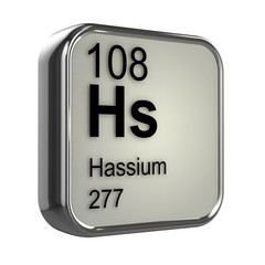 3d Periodic Table - 108 Hassium