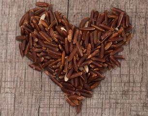 heart shape rice