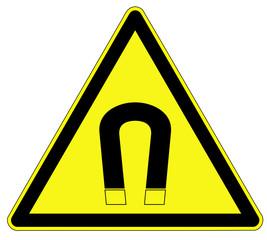 Warnzeichen - magnetisches Feld
