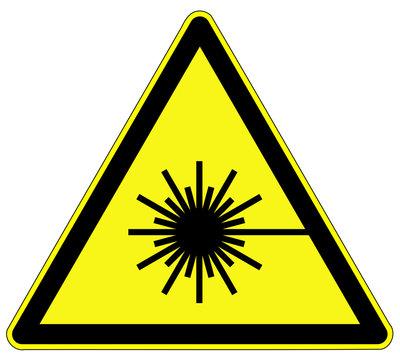 Warnzeichen - Laserstrahl