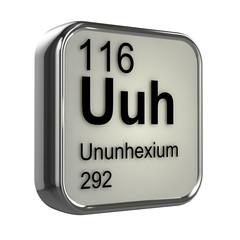 3d Periodic Table - 116 Ununhexium
