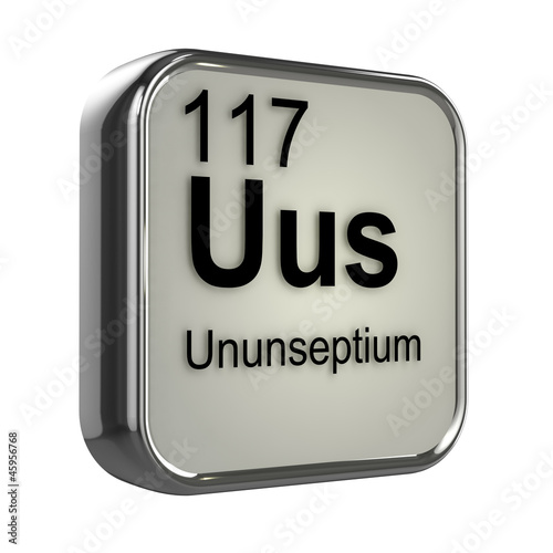 3d periodic table 117 ununseptium stock photo and for 117 periodic table