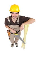 Carpenter seen from above