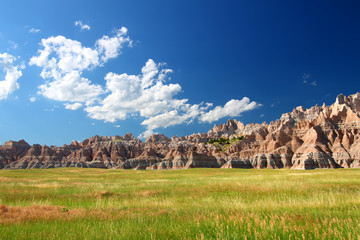 Wall Mural - Badlands National Park Prairie