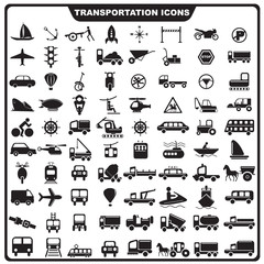 vector illustration of set of Transportation icon