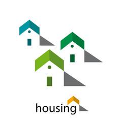 Logo house, real estate agency # Vector