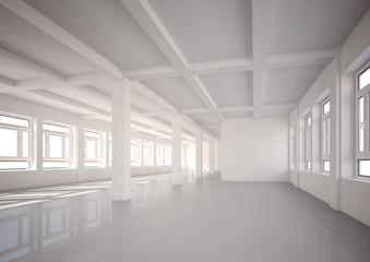 leerstehende Halle