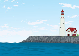 light house and sea