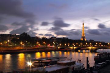 Seine river from Alexander III bridge