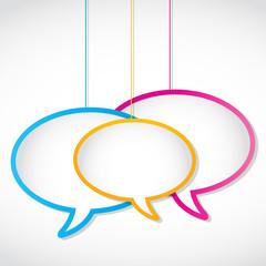 social media network speech bubbles