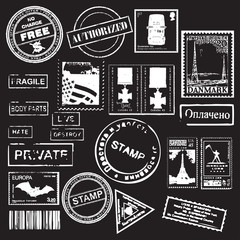 Vector Set of Retro stamps - for design