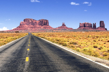 Road leading into Monument Valley.